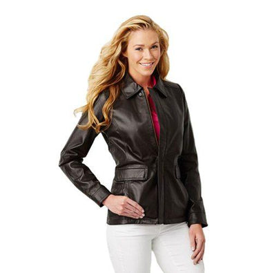 Talos Ballistics Level IIIA Bulletproof Women's Black Falcon Leather Jacket