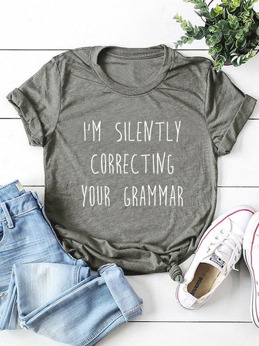 Correcting Grammer Tee