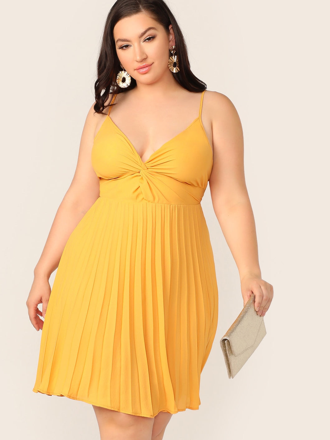 Sonya Front Pleated Cami Dress