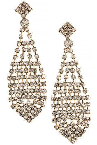 Naomi Crystal Teardrop Earrings