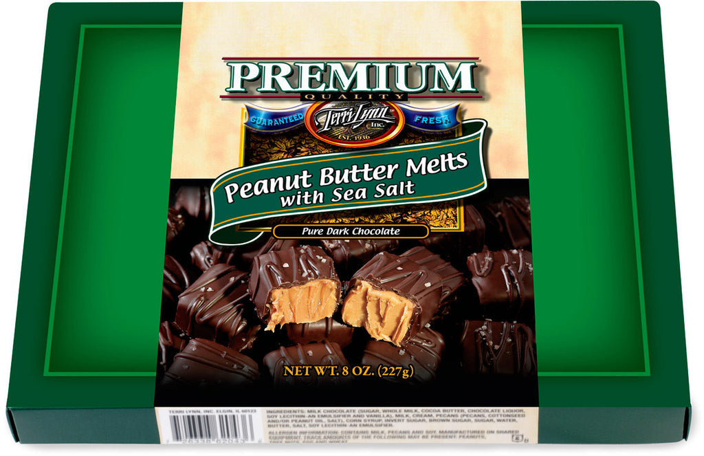 Dark Chocolate Peanut Butter Melts with Sea Salt