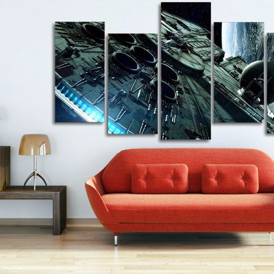 5-Piece Millennium Falcon - Star Wars Canvas Art