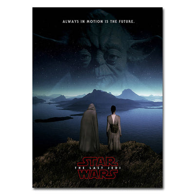 Star Wars VIII The Last Jedi - Canvas Poster