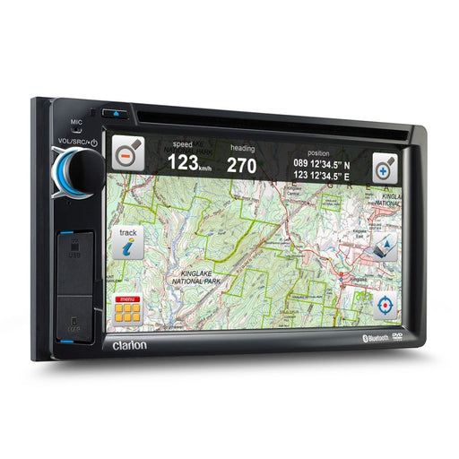 Clarion NX387AU Double Din In-Dash GPS Unit - Street & Off-road - Toyota General - GPS