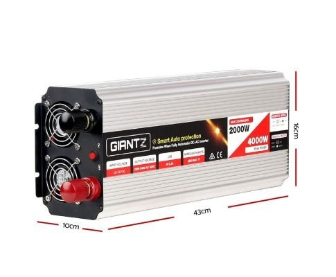 Giantz 2000W Puresine Wave DC-AC Power Inverter - Inverter