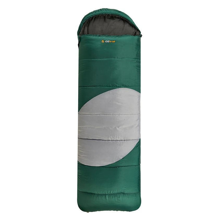 OZtrail Lawson Hooded Sleeping Bag | Green - Camping Accessories