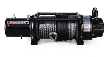 Runva 11XP Premium 12V Winch with Synthetic Rope | Full IP67 protection