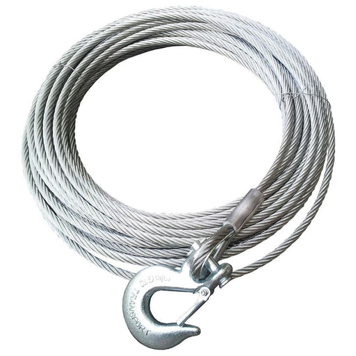 Runva Aircraft Grade Steel Winch Cable | 9.2mm x 26.5m - Recovery Gear