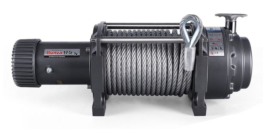 Runva EWN17500 12V/24V Winch with Steel Cable - Electric Winch