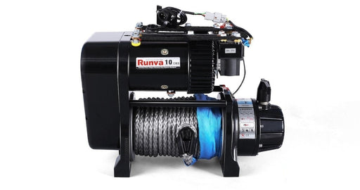 Runva EWS10000 PREMIUM 24V Twin Motor Winch with Synthetic Rope - Electric Winch
