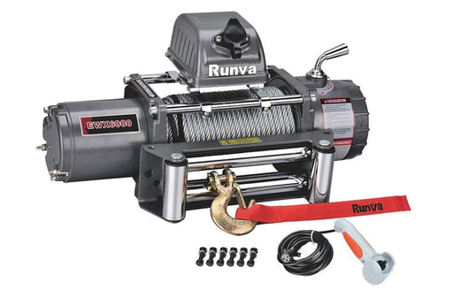 Runva EWX6000 12v Winch with Synthetic Rope - Electric Winch