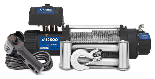 VRS 12500lb 4wd Winch With Steel Cable | V12500 | IP68 Rating - Electric Winch