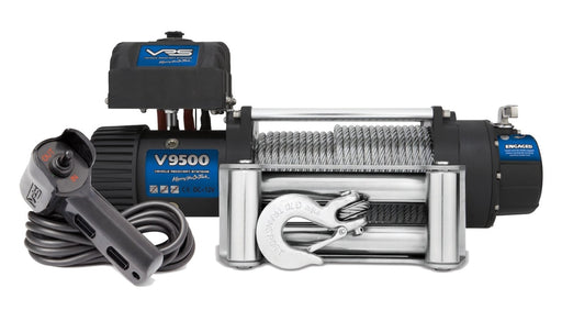 VRS 9500lb 4wd Winch With Steel Cable | V9500 | IP68 Rating - Electric Winch