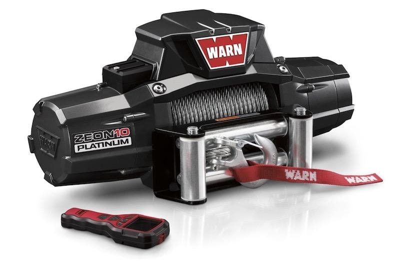 Warn Zeon 10 Platinum 12v 10,000lb Winch with Steel Wire - Electric Winch