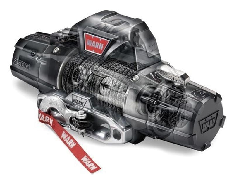 Warn Zeon 12-S Platinum 12v 12,000lb Winch with Synthetic Rope - Electric Winch