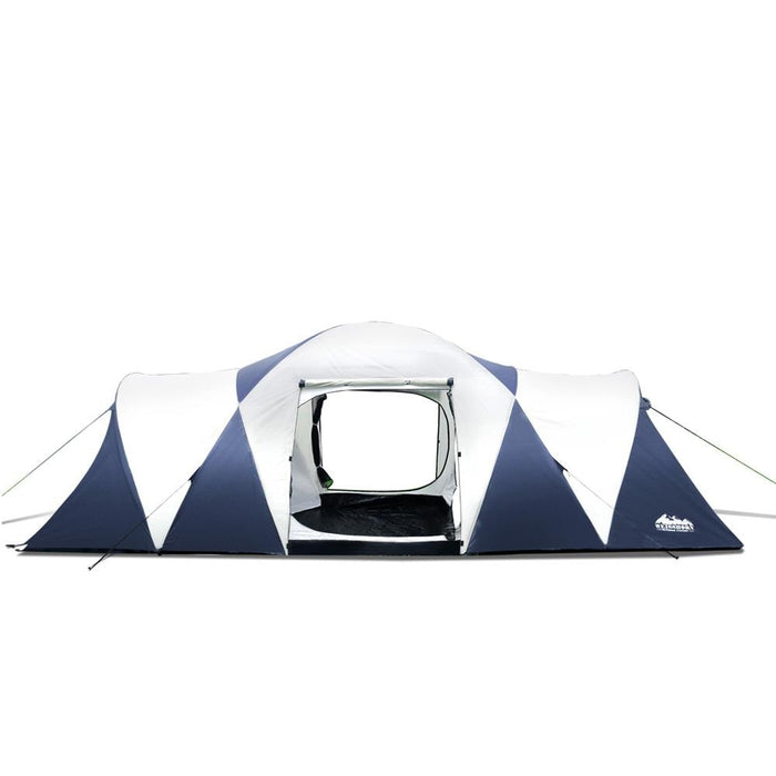 Weisshorn 12 Person Canvas Dome Camping Tent | Navy & Grey - Tent