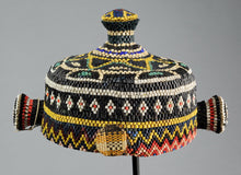 VENDU / SOLD ! Jolie coiffe perlée - Pende Bapende  - Rdc Congo Rdc - Cute beaded headdress  - MC0626
