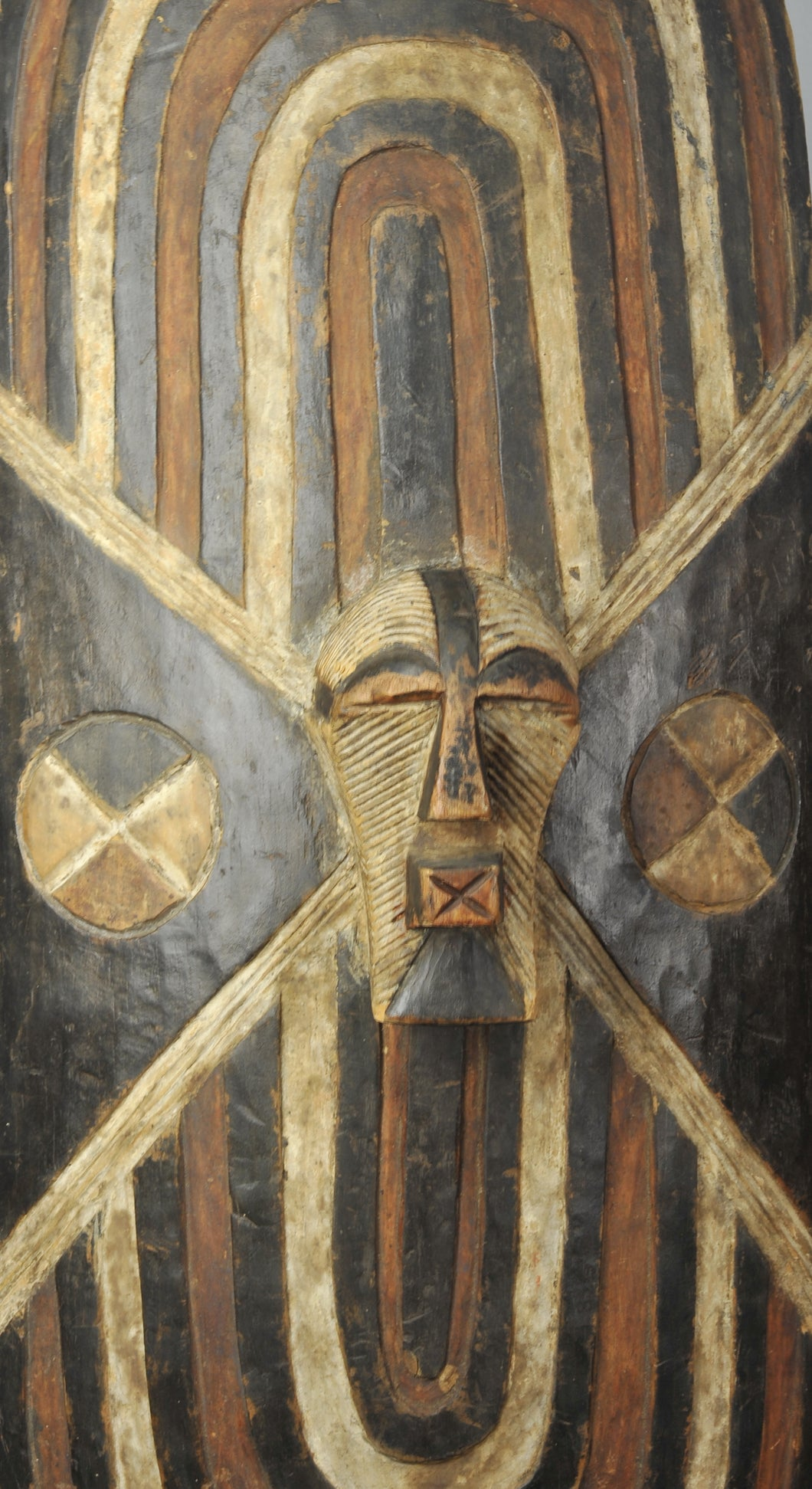 Superbe grand bouclier Songye Congo Basongye Songe Shield Art Africain Tribal
