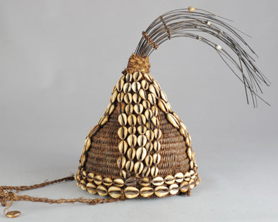 VENDU / SOLD ! Coiffe initié du BWAMI LEGA Belle provenance - Hat Headdress Congo  MC0574