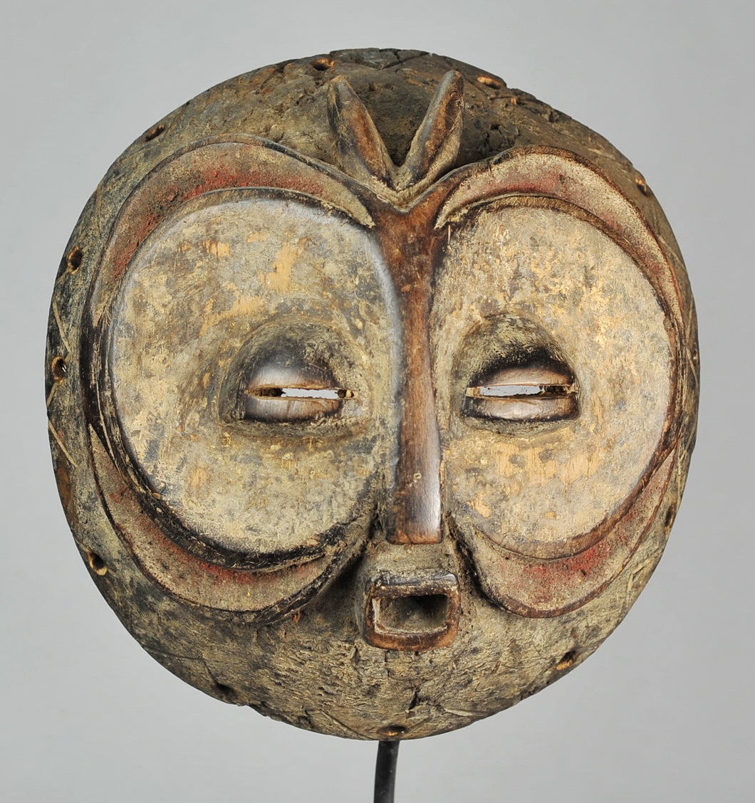 MC1144 BEMBE Exceptionnel masque zoomorphe hibou - Owl initiation Mask - Congo Rdc  Luba style