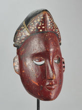 MC1238 Beau masque polychrome IBIBIO Mask Nigeria