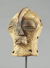 VENDU - SOLD ! Masquette masque miniature masculin SONGYE Kifwebe Mask Congo  Rdc MC0994