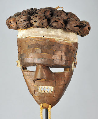 MC1398 Puissant Masque Guerrier SALAMPASU Warrior Mask Congo Rdc