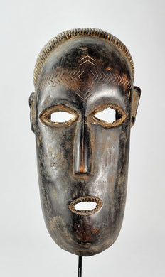MC1151 Rare grand masque ZANDE AZANDE Mask  Ubangi Congo Rdc