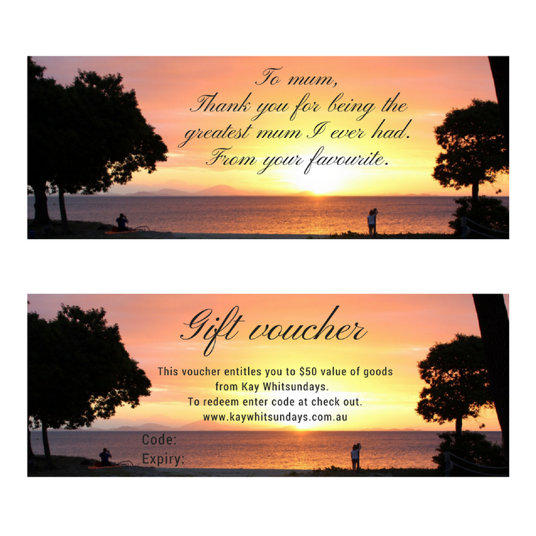 Gift Voucher - Kay Whitsundays