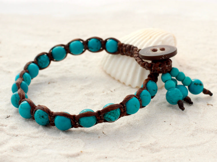 Macrame single wrap - Turquoise