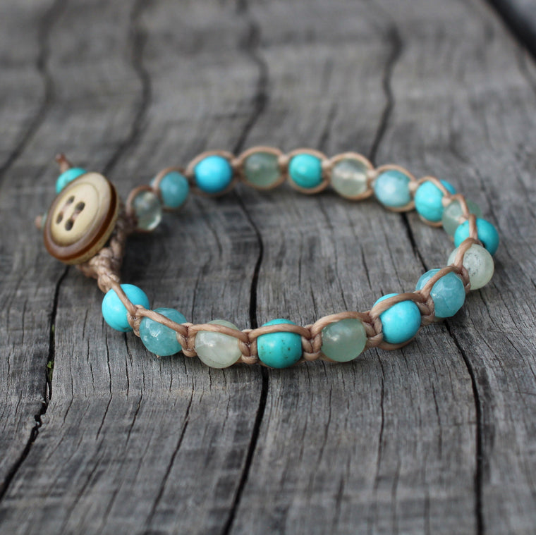 Ocean Tones Single Wrap Bracelet