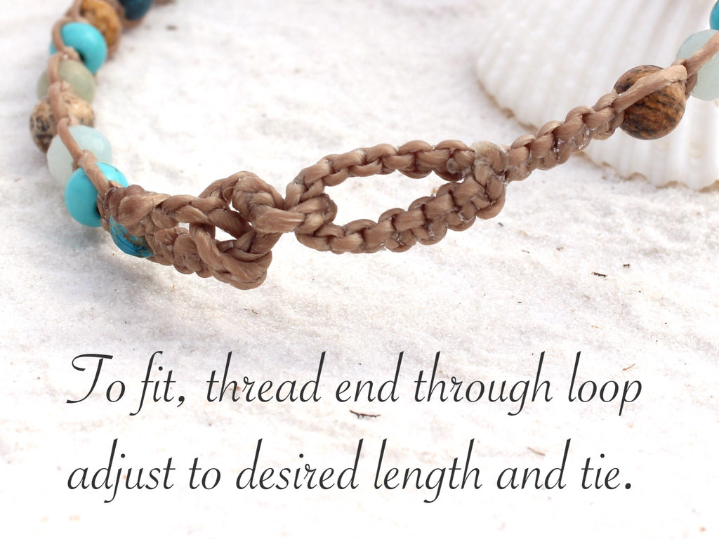 Macrame bracelet / child anklet - Beach Days