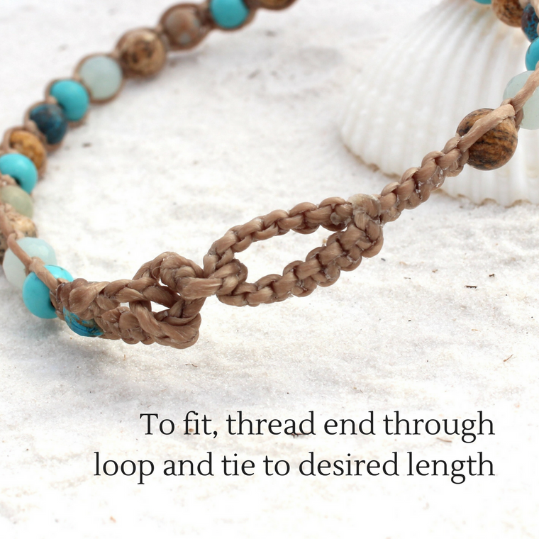 Macrame Beach Bracelet/Kids Anklet - Sandy Shores