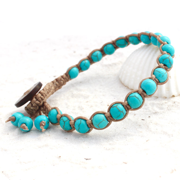Macrame single wrap - Blue Turquoise