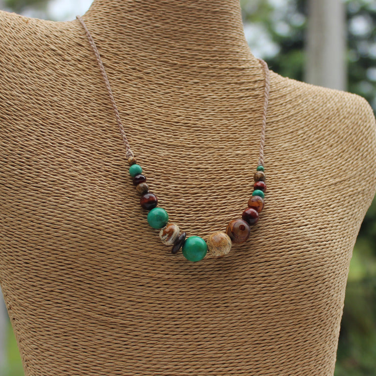 Gemstone Necklace - Rainforest