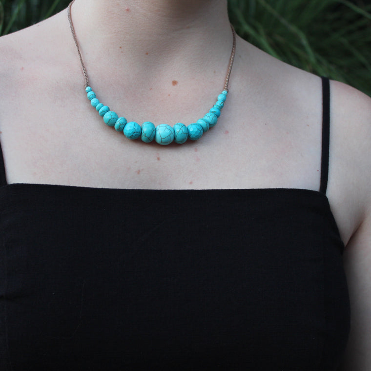 Gemstone Necklace - Turquoise