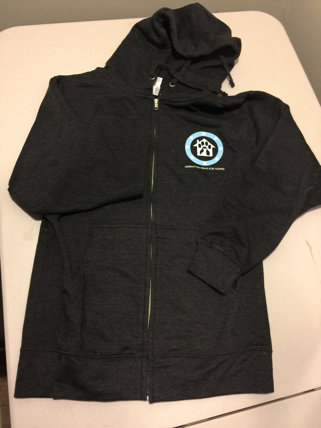 Adult Black Operation Paws for Rescue Zip-Up Hoodie