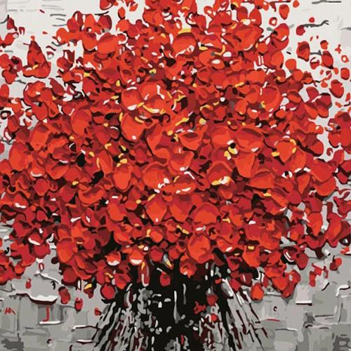 Red flowers DIY Painting By Numbers Kits For Adults 16x20inch ...