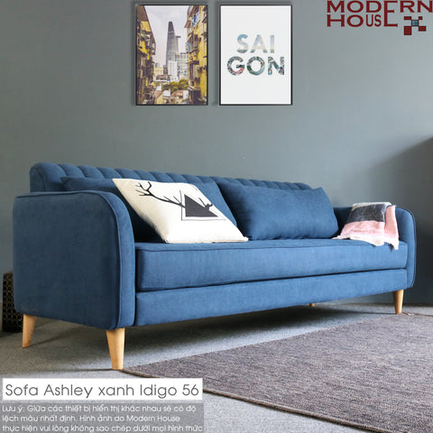 Sofa Ashley xanh Idigo 56