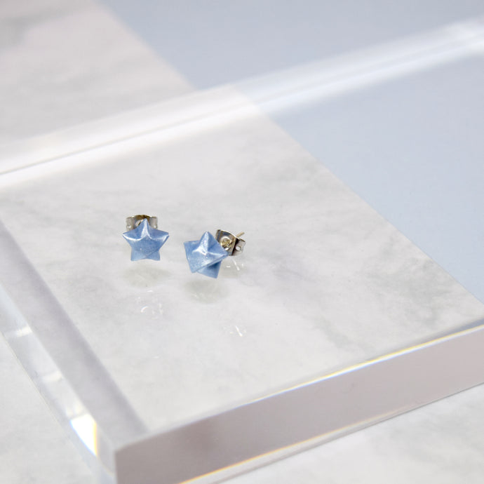 Lucky Star Earrings (Blue)