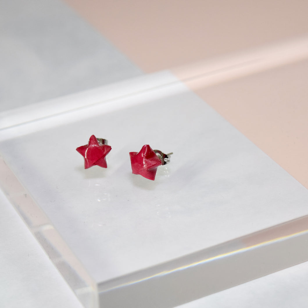 Lucky Star Earrings (Fuchsia)