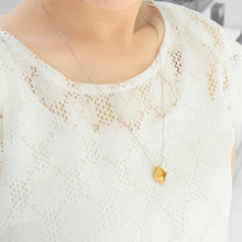 Classic 3D Printed Gold Diamond Necklace