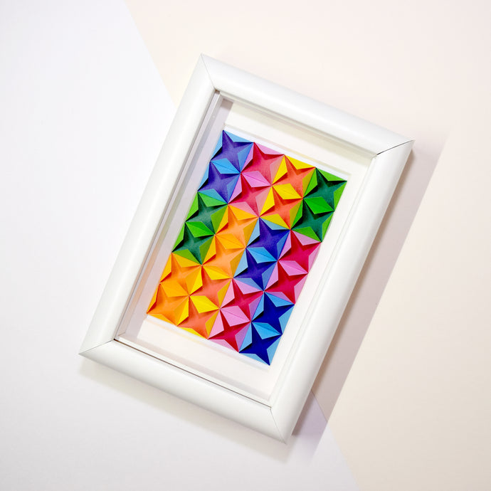 Framed Art (Rainbow/white)