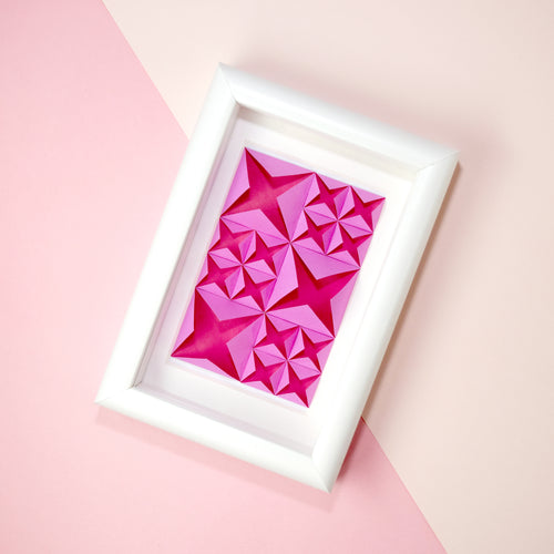 Framed Art (Pink/white)