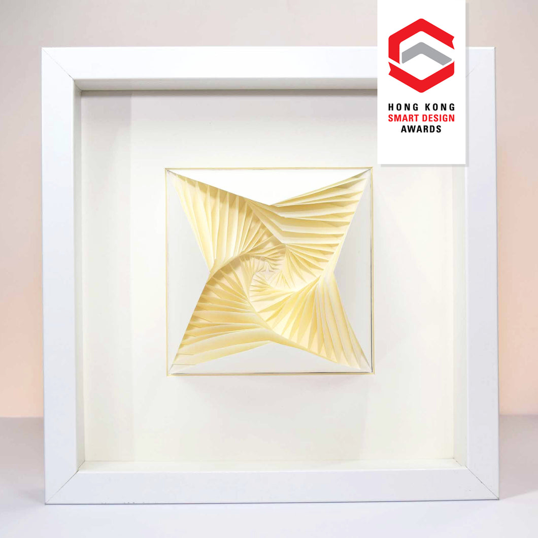 3D Paper Art Frame (White Rose)