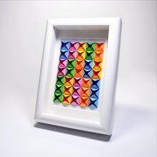 3D Paper Art Frame (Rainbow/white)