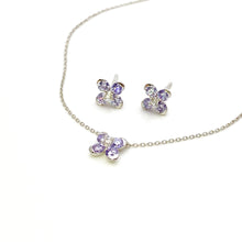 Lavender Sweet Alyssum White Gold Necklace