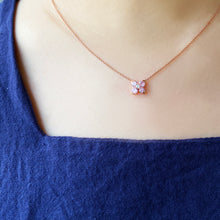 Pink Sweet Alyssum Rose Gold Necklace