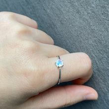 Moon & Star Silver Ring
