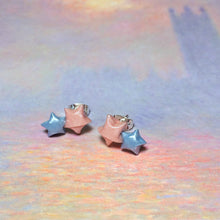 Double Lucky Star Earrings (Pink/Blue)